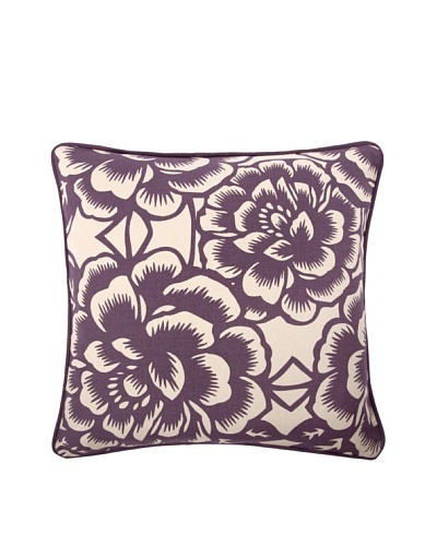 "Thomas Paul Bloom 18"" Cotton Pillow, Violet"