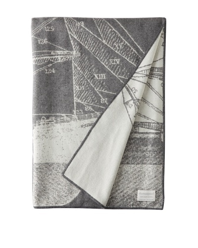 Thomas Paul Baby Alpaca Maritime Throw, Charcoal, 50 x 70