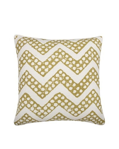 Thomas Paul Chevron Feather Pillow, Ochre