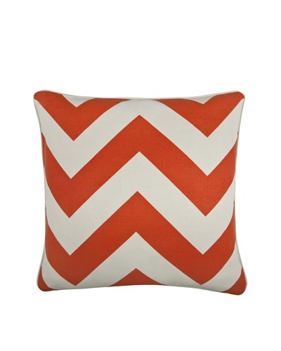 "Thomas Paul Herringbone 18"" Cotton Pillow, Alcazar"