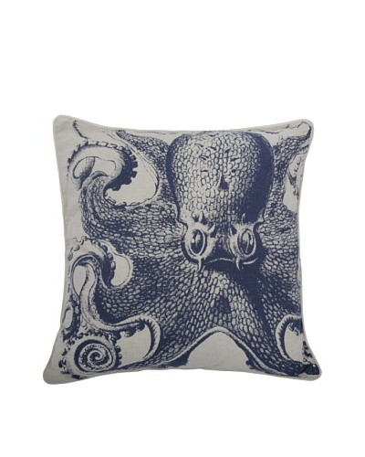 Thomas Paul Octopus Feather Pillow, Indigo