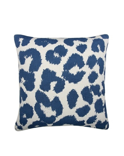 Thomas Paul Leopard Feather Pillow, Marine