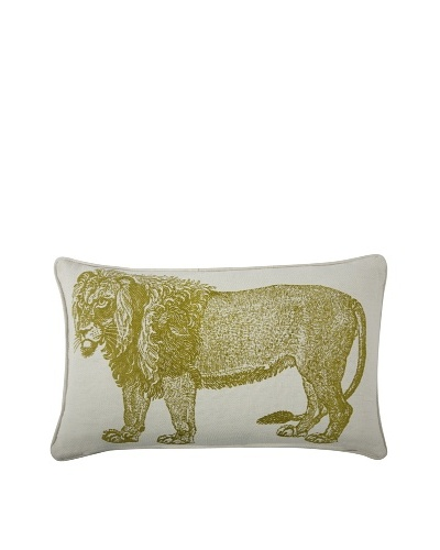 Thomas Paul Lion Feather Pillow, Ochre