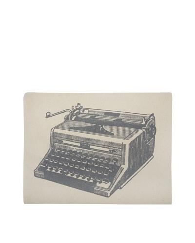 Thomas Paul Typewriter Hand-Screened iPad Envelope, Charcoal