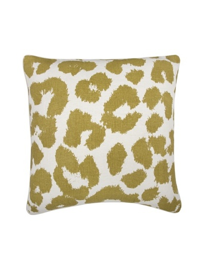 Thomas Paul Leopard Feather Pillow, Ochre