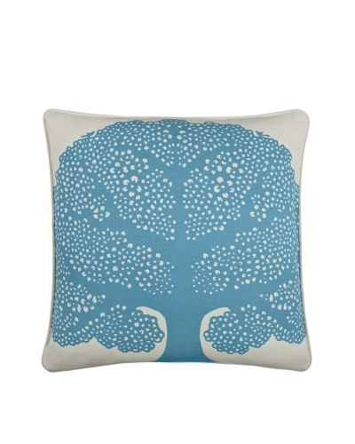 Thomas Paul Arboretumn 18 Cotton Pillow, Aqua