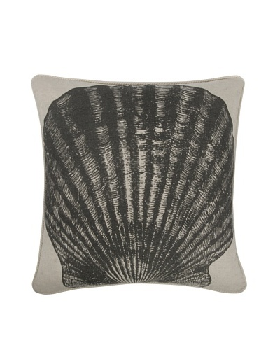 Thomas Paul Shell Feather Pillow, Charcoal