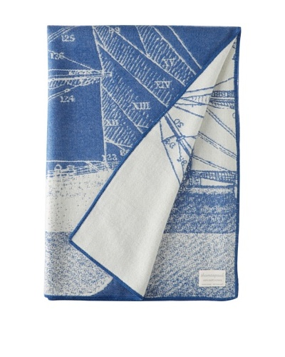 "Thomas Paul Baby Alpaca Maritime Throw, Azure, 50"" x 70"""