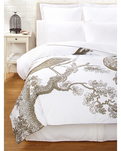 Thomas Paul Ornithology Duvet Cover [White/Slate]
