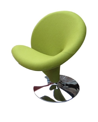 International Design USA Ziggy Wool Swivel Leisure Chair, Green