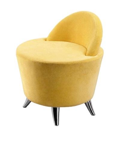 International Design USA Groovy Microfiber Leisure Chair, Yellow