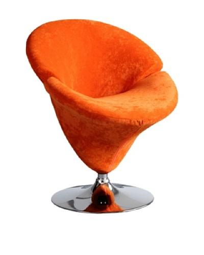 International Design USA Tulip Microfiber Leisure Chair, Orange