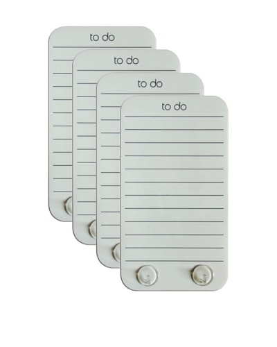 Three by Three Set of 4 Stick It! To-Do Boards, WhiteAs You See