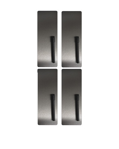 Three by Three Set of 4 Dry Erase Stainless Steel Magnet Boards
