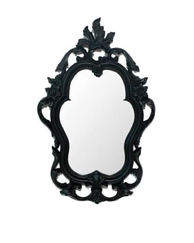 Three Hands Hollywood Regency Wall Mirror, Black