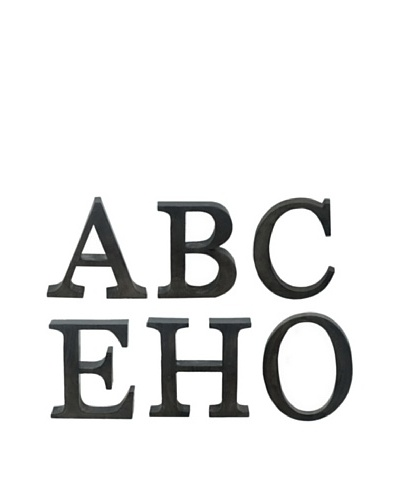 Three Hands Set of 6 ABCEHO Wall Letters