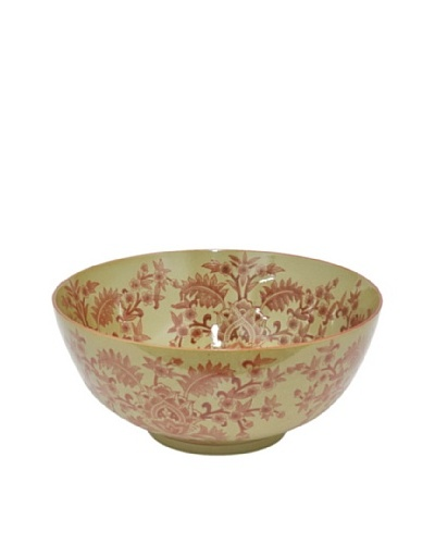 Three Hands Floral Scroll Ceramic Bowl