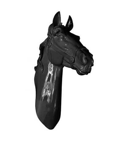 Three Hands Horse Head Wall Décor, Black