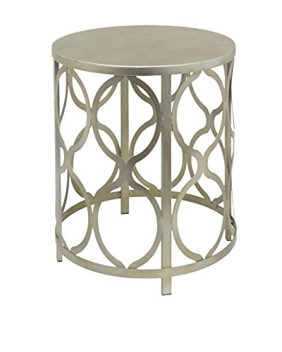 Three Hands Metal Accent Table, Pale Gold