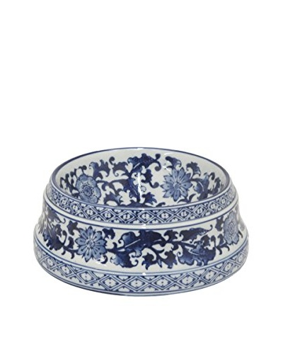 Three Hands Medium Ceramic Bowl, Blue