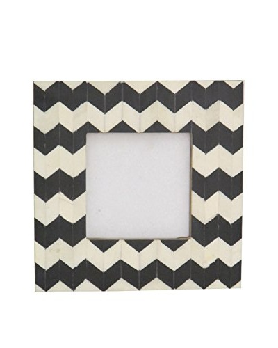 Three Hands Square Faux Bone Photo Frame