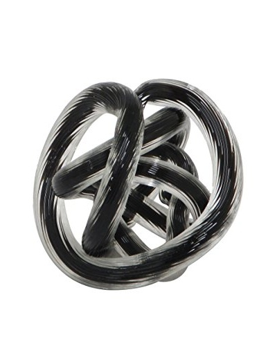 Three Hands Black Glass Knot Statue