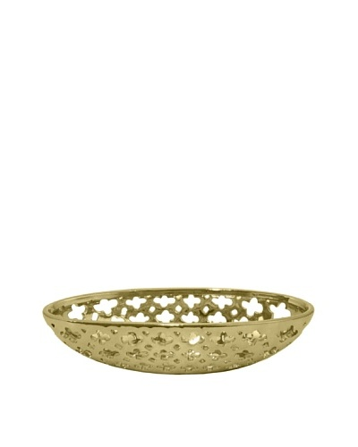 Three Hands Clover Cutout Ceramic Bowl