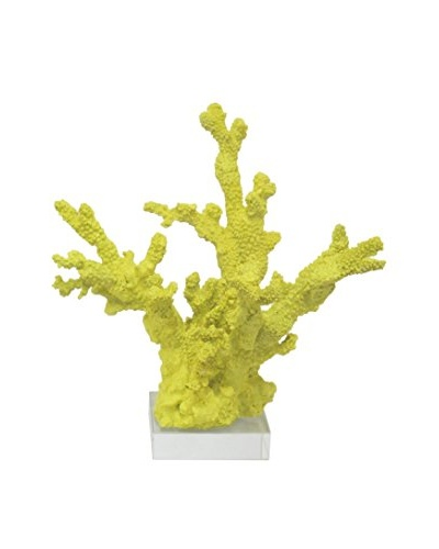 Three Hands Yellow Resin Coral Statue