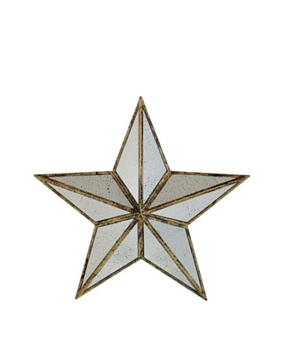 Three Hands Mirrored Metal Star Wall Art