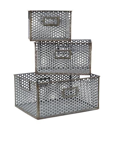 Three Hands Set of 3 Metal Baskets