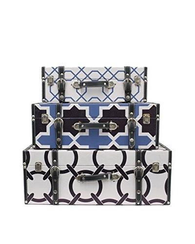 Three Hands Set of 3 Graphic Storage Boxes
