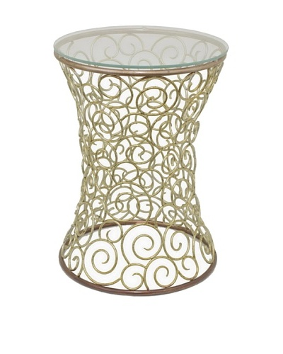 Three Hands Metal Accent Table