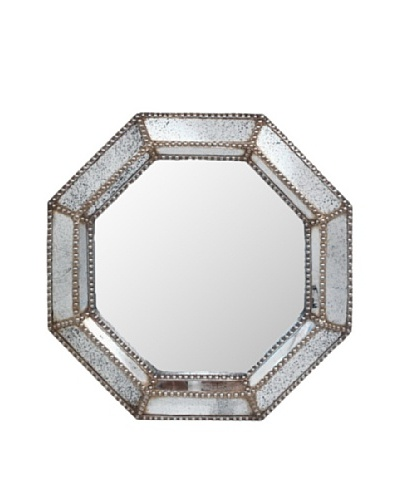 Three Hands Studded Octagon Wall MirrorAs You See