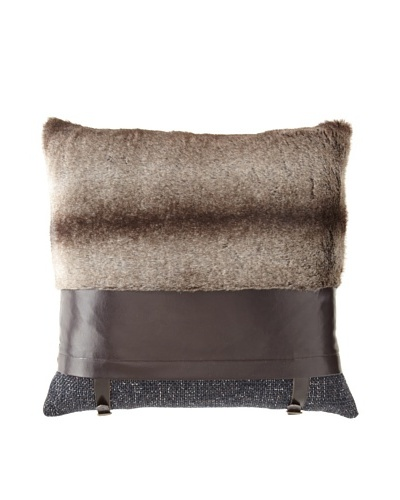 Cloud9 Madison Pillow, Brown, 18 x 18