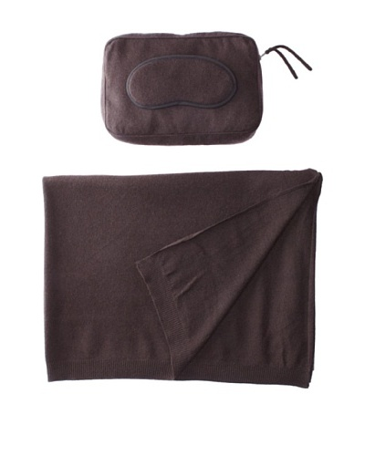 Sofia Cashmere Romagna Jersey Knit Travel Set, Brown