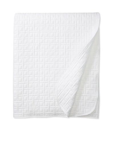 Mili Designs Jamaica Quilt, White, 92 x 96