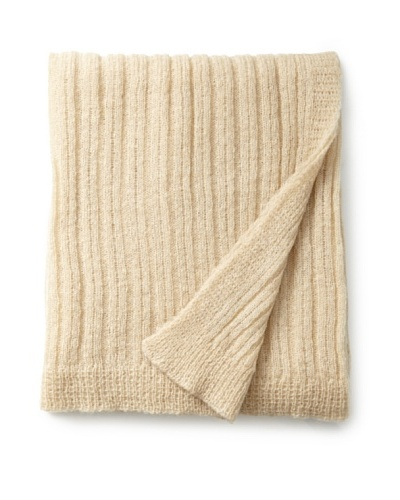 Mili Designs Light Knitted Throw, Putty, 59 x 79