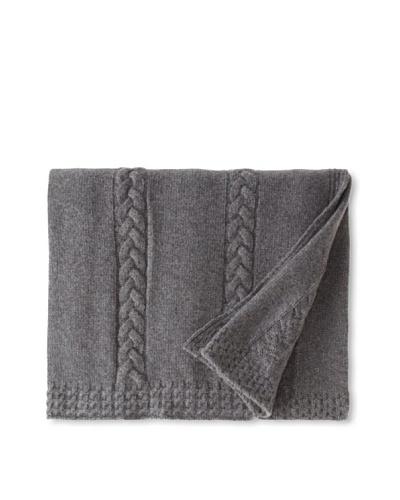 Sofia Cashmere Calabria Cable Stripe Knit Throw