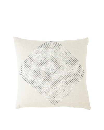 Coyuchi French Knot Diamond Linen Pillow, Natural, 16 x 16