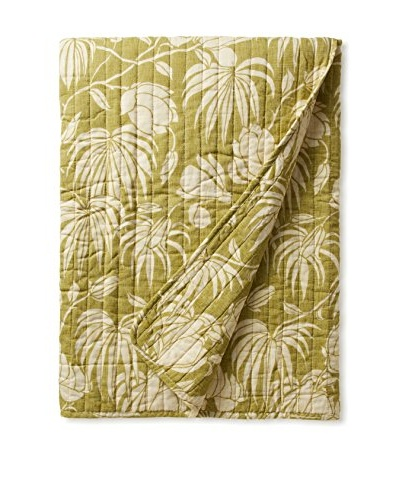 Tommy Bahama Plantation Floral Throw, Lime
