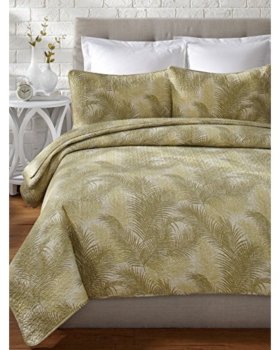 Tommy Bahama Tossed Palm Quilt Set, Green, Full/Queen