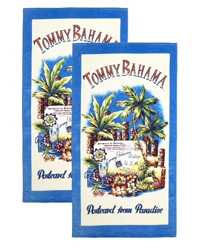 Tommy Bahama Set of 2 Postcard From Paradise Beach Towels