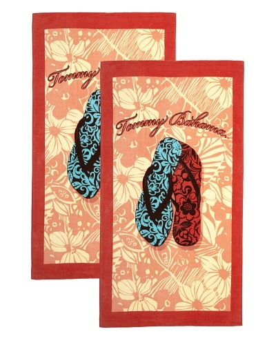 Tommy Bahama Set of 2 Flip Flops Beach Towels