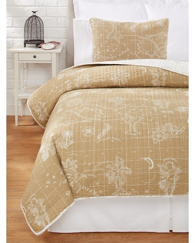 Tommy Bahama Map Quilt Set [Khaki]