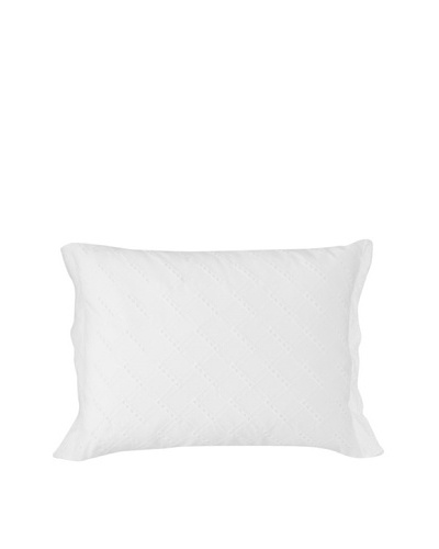 Tommy Hilfiger Rose Cottage Breakfast Pillow, White, 14 x 18