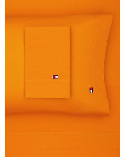 Tommy Hilfiger Solid Sheet Set [Orange]