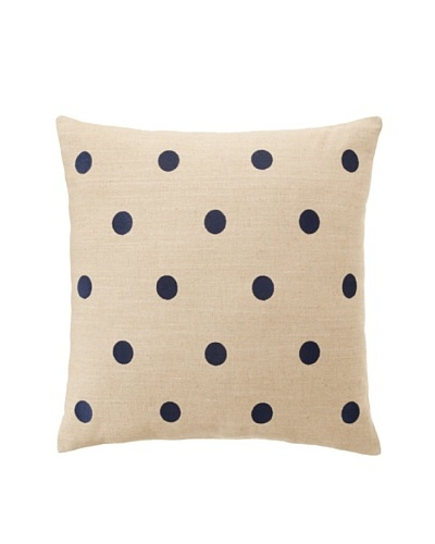 Tommy Hilfiger Reading Room Stripe Collection Pillow, Navy Dots