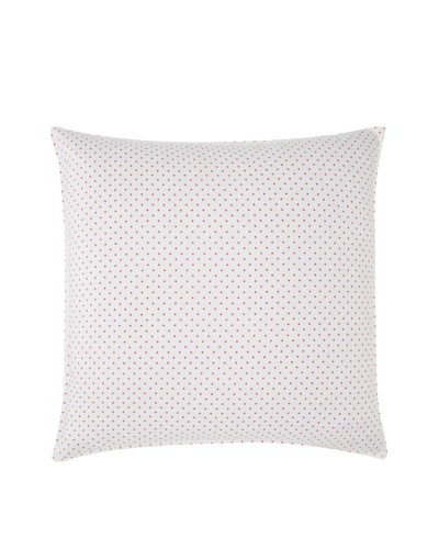 Tommy Hilfiger Rose Cottage Euro Sham, White/Red, 26 x 26