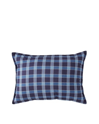 Tommy Hilfiger Shelburne Paisley Breakfast Pillow, Navy Plaid, 14 x 20