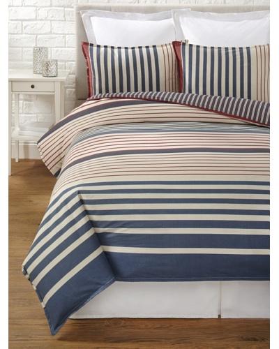 Tommy Hilfiger Reading Room Collection Stripe Duvet Set